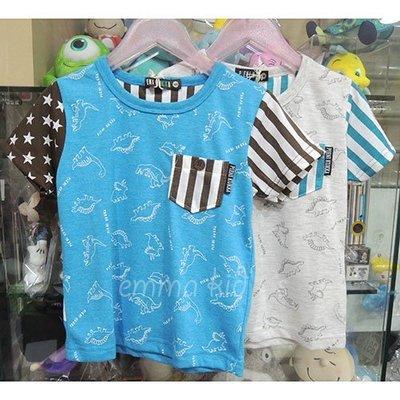 出清 日本童裝 恐龍 暴龍 短袖上衣 短袖綿T恤人氣商品 #110CM#130CM 日本空運~小太陽日本精品