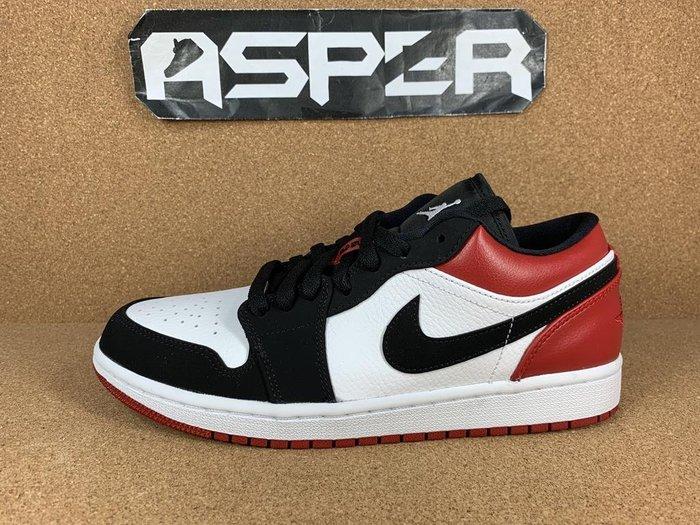 【Asper】Nike AIR Jordan 1 Low Black Toe 黑白紅 黑頭 553558-116