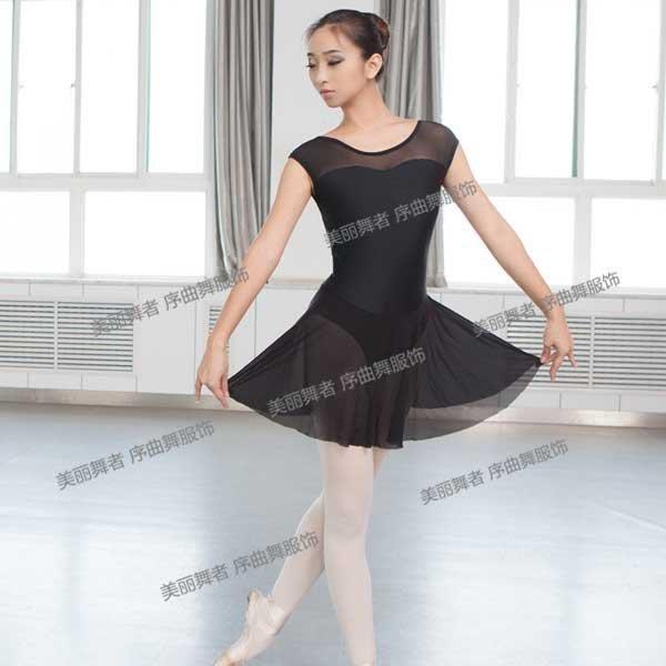 5Cgo【鴿樓】會員有優惠  41727344909 舞蹈 成人芭蕾舞練功服連體服 機翼袖芭蕾舞服 芭蕾舞裙 裙體服