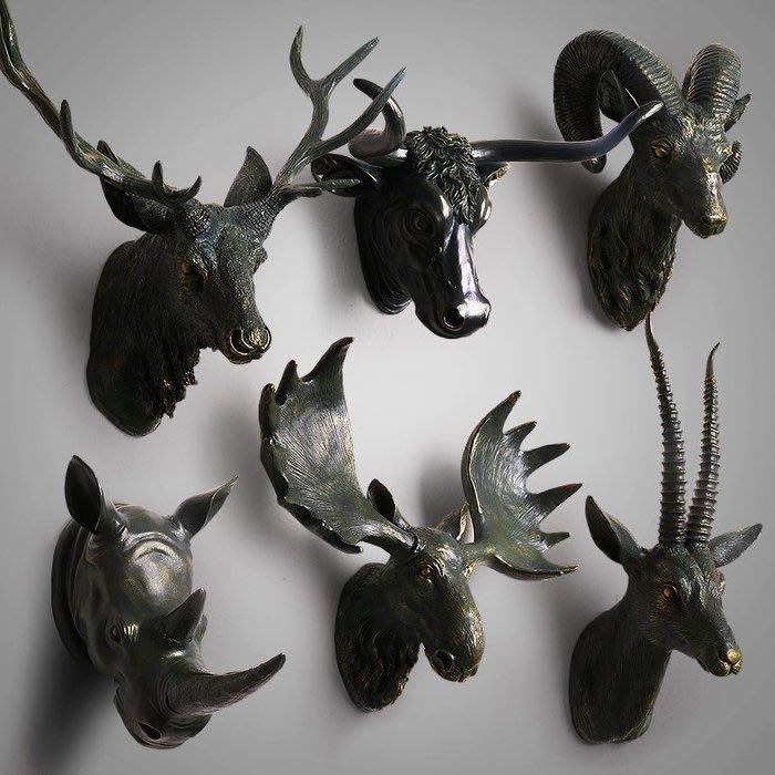 ART。DECO  動物壁掛 雕像 擺件 設計現代 時尚 裝飾 工作室