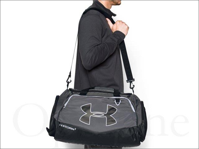 全新現貨 UA Under Armour 安德瑪 中性 灰色防水出國 運動包 斜背包 肩背包 手提包 愛COACH包包