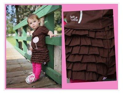 美國RuffleButts Ruffled Skirt蛋糕裙(巧克力色) **超低特價$300元出清**