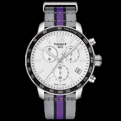Tissot 天梭時捷系列NBA球隊款尼龍帶石英男腕錶薩克拉門托國王隊 T0954171703735