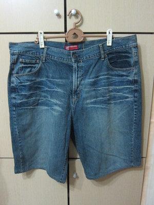衣市藍~BIG TRAIN 牛仔短褲 (W46~) (200903-2)