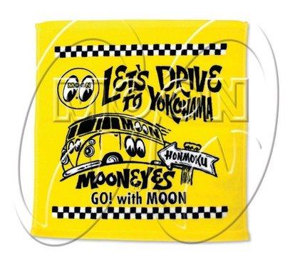 (I LOVE樂多)MOONEYES 跟隨月亮前往橫濱 黃色毛巾 家用運動遊泳披掛皆合宜