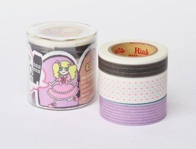 紙膠帶 Rink Roll Mansion 蘿莉 3款各分裝100cm
