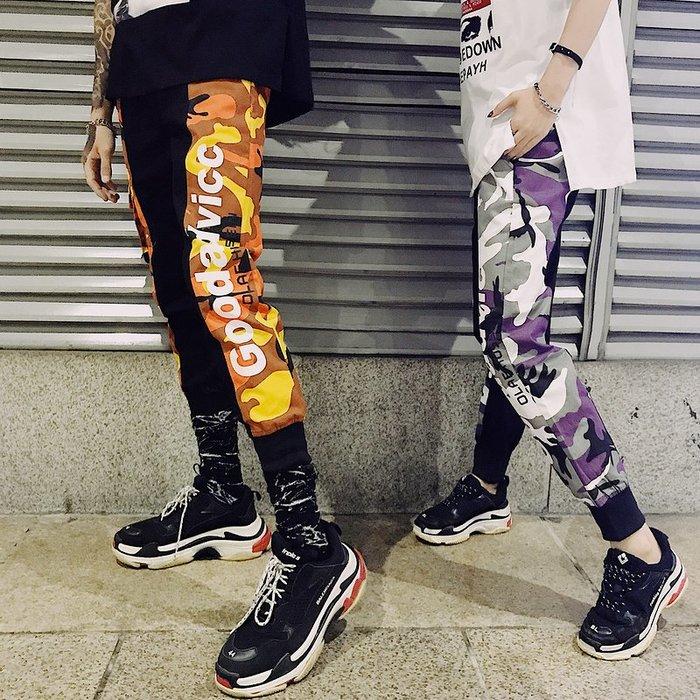 TST- 迷彩 文字 運動褲 球褲 長褲 休閒褲 束口褲 嘻哈風 潮流風 男女款 情侶款 GD同款