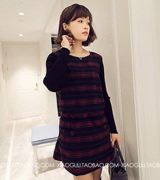 韓版連衣裙(紅色) J-11586