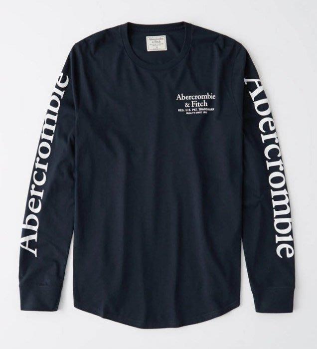 AF Abercrombie & Fitch 麋鹿 長袖 長T 印花 logo 藍/黑/米色