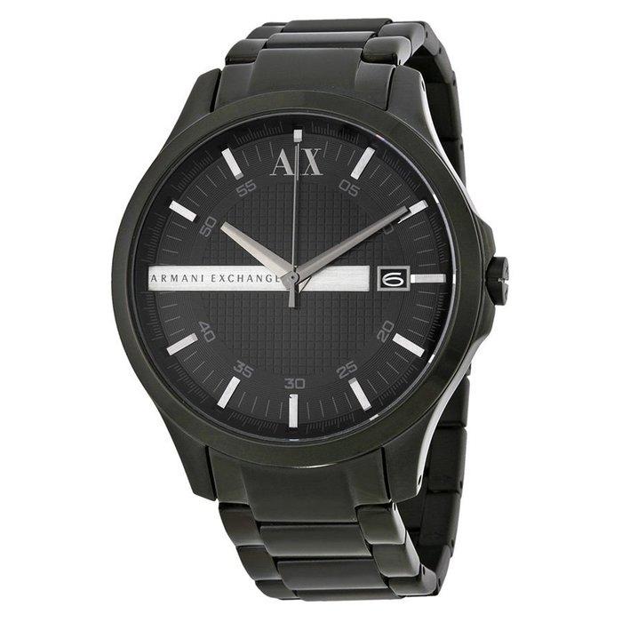 美國百分百【Armani Exchange】AX 手錶 腕錶 經典 日期 阿曼尼 不鏽鋼 黑色 AX2104 G348
