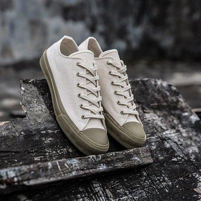 飛越潮流日系阿美咔嘰THE岡山復古久留米hill帆布鞋side低幫硫化鞋男女鞋