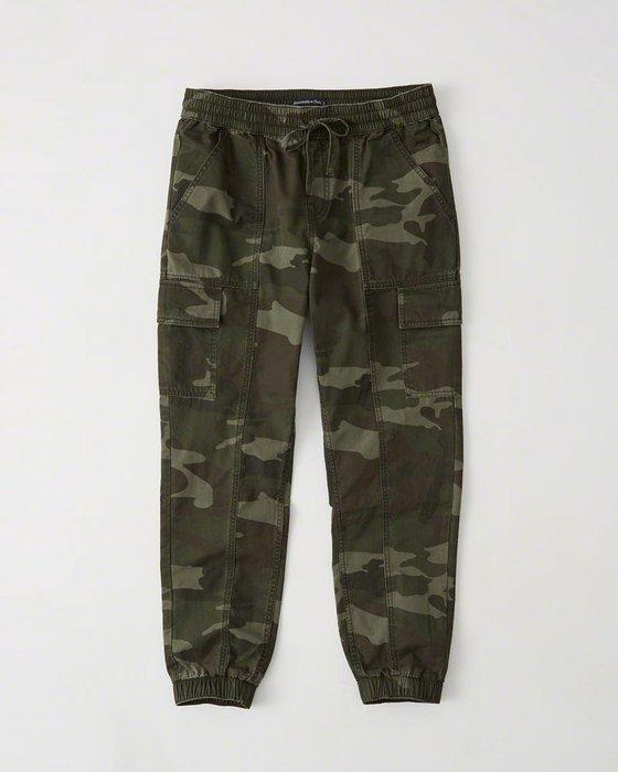 Maple麋鹿小舖 Abercrombie&Fitch * AF  軍綠迷彩休閒綁帶縮口長褲 * ( 現貨S號 )