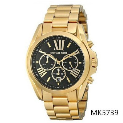 Michael Kors 女大錶盤手錶不鏽鋼石英女錶 MK5739