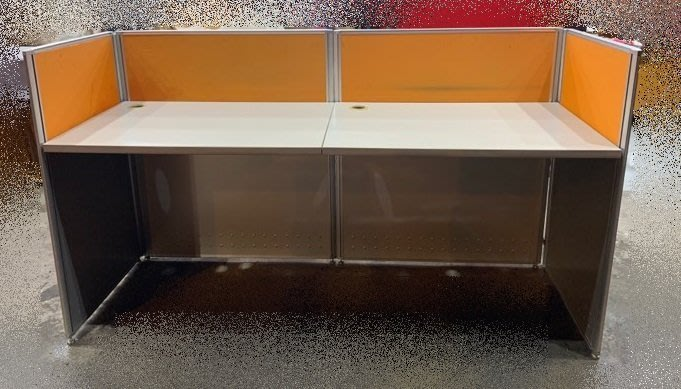 樂居二手家具(北) 便宜2手傢俱拍賣 C90552*E字形辦公室隔間屏風含桌板*OA辦公設備 新莊樹林五股龜山板橋