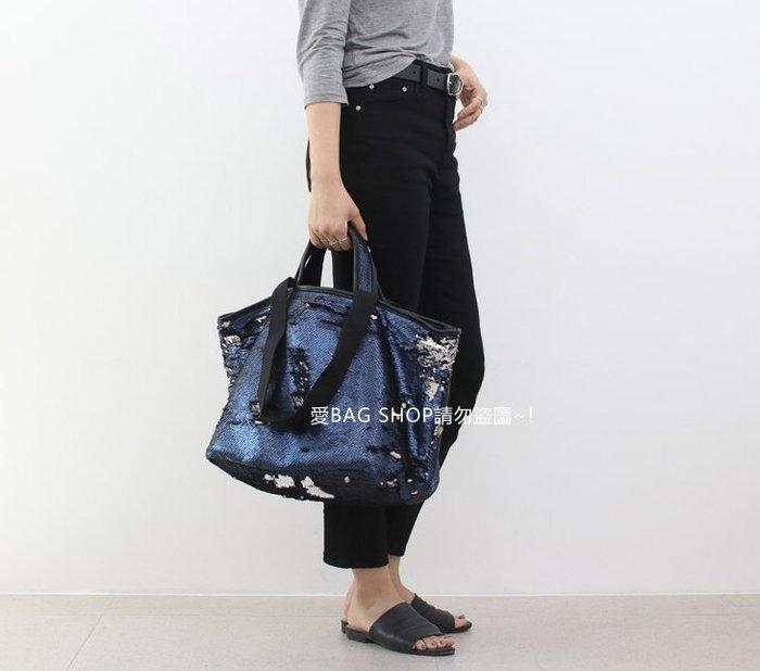 愛BAG SHOP 韓國 WHOSBAG 亮片拼色 帆布 大方包 托特包 3790 預購 共三色