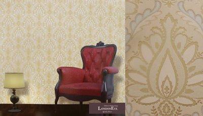 【LondonEYE】韓國原裝進口壁紙/壁布 •  巴洛克古典大馬士革 • 優雅圖騰 住宅商空(S)