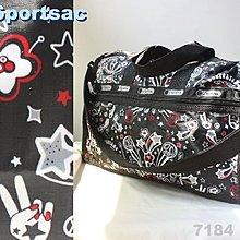 【LeSportsac】100% 全新正品 7184 D130 / LET'S ROCK 中型 旅行袋*可拆式背帶*
