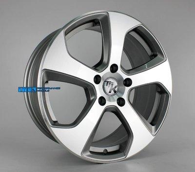 類GOLF GTI新款鋁圈樣式 17吋 5孔112~114.3 7.5J ET45 中心孔57.1~73.1 亮灰車面