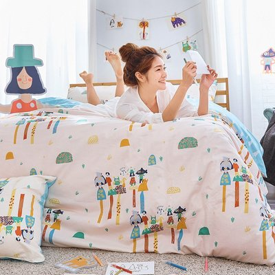 床包 / 雙人加大【點點善-純真天賦】含兩件枕套  100%精梳棉  戀家小舖台灣製AAL301