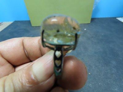 【競標網】高檔漂亮巴西天然髮鈦水晶伸縮圍戒指(A08)(天天超低價起標、價高得標、限量一件、標到賺到)