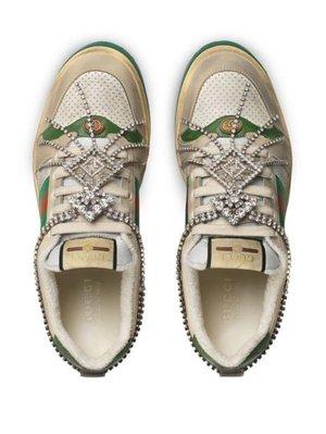 Gucci 431919 Sneakers 紅唇休閒鞋 白