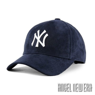 【PD帽饰】【MLB Old Fashioned Cap】NY 紐約 洋基 麂皮 老帽 深藍 鴨舌帽【ANGEL NEW ERA 】