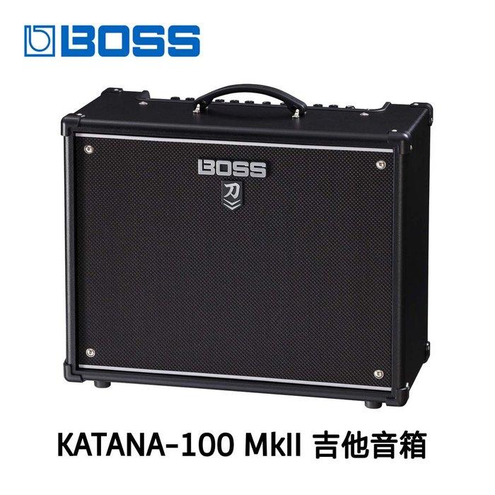 ♪♪學友樂器音響♪♪ BOSS KATANA-100 MkII 刀 Mk2 第二代 100瓦 吉他音箱 電吉他 木吉他
