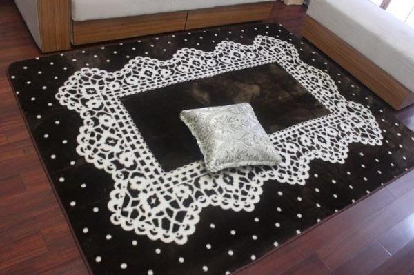 粉紅玫瑰精品屋~新款棕色地毯.臥室柔軟地毯.寶寶遊戲毯.客廳地毯.可機洗~現貨+預購
