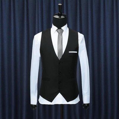 韓版型男修身V領馬甲Men Business Suit Vest Waistcoat百衣百順TDR345