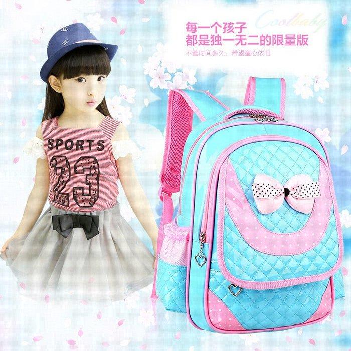 東大門平價鋪   韓版PU皮免洗書包,女小學生1 - 3   3- 6年級防水書包,6-12周歲雙肩兒童背包