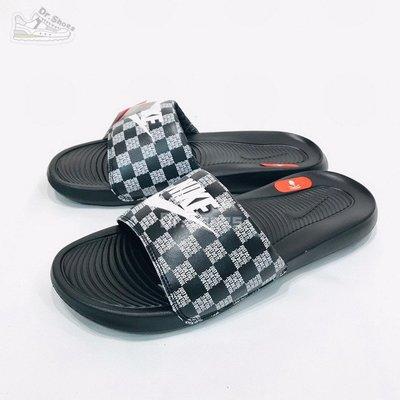 【Dr.Shoes】Nike VICTORI ONE SLIDE PRINT 棋盤格 軟底運動拖鞋 CN9678-004