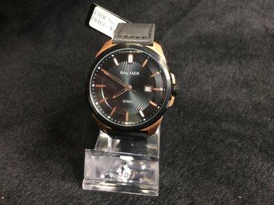 【小川堂】7958 BALMER 瑞士 賓馬 放射光感 真皮腕錶 特殊設計 經典款 時尚簡約幹練沉穩中性皮帶錶 男錶