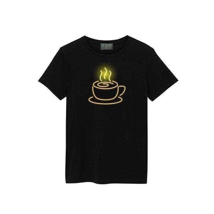 T365 霓虹 燈管 咖啡 T恤 男女皆可穿 多色同款可選 短T 素T 素踢 TEE 短袖 上衣 棉T
