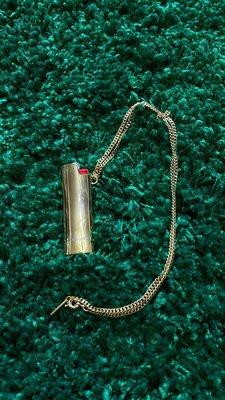 二手美品 保證正品 AMBUSH Lighter Necklace 打火機 項鍊 bic專用 打火機套 金色 (售完)