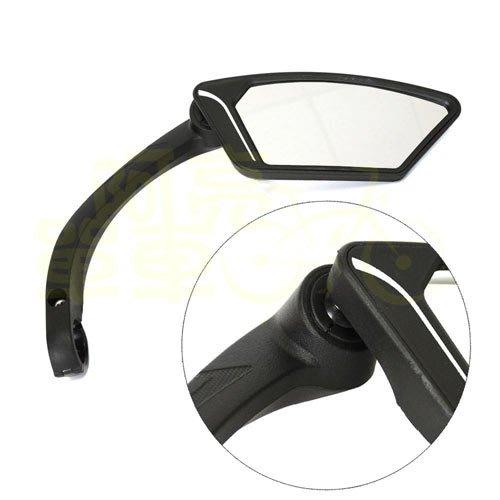 *阿亮單車*歐式時尚型自行車後視鏡,右銀鏡《B26-046-1》