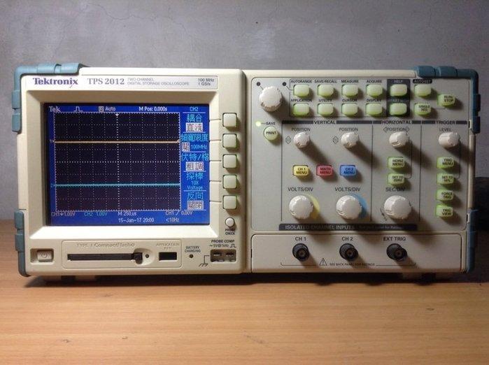 Tektronix 太克 TPS2012 數位螢光示波器 9成新 歡迎議價 示01