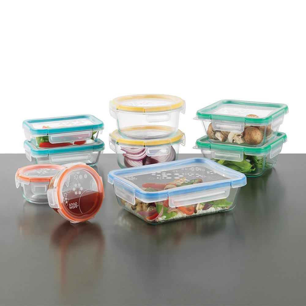 【小如的店】COSTCO好市多代購~Snapware 玻璃保鮮盒(含蓋共18件組)