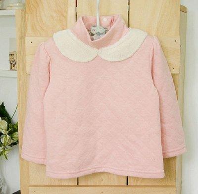 ~DJ媽咪~ 品牌 立領粉紅鋪棉女童保暖上衣 T恤