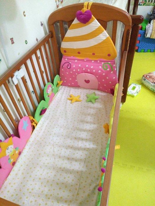 ☆奇奇娃娃屋(MS)☆法國Vertbaudet,小公主城堡床圍(適用60*120公分的嬰兒床)~1200元(免運)