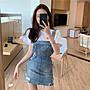 ❤Princess x Shop❤蝴蝶結牛仔背帶吊帶裙TM-39-3韓國同款女裝