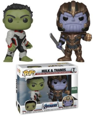 美國代購 公仔 FUNKO POP Endgame 復仇者聯盟 終局之戰 Hulk Thanos 雙人組合 限定款 預購