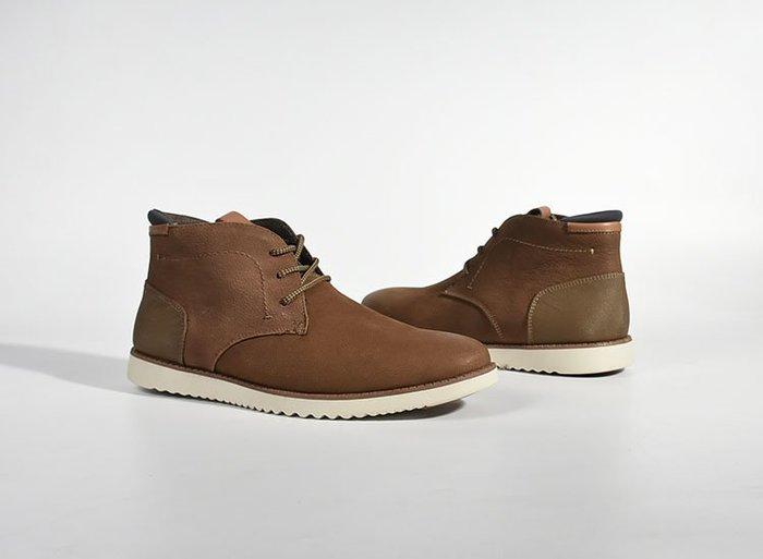 陽光角落~us9-  us12 us13 牛皮皮革拼接 短靴  高筒鞋 大尺碼男鞋