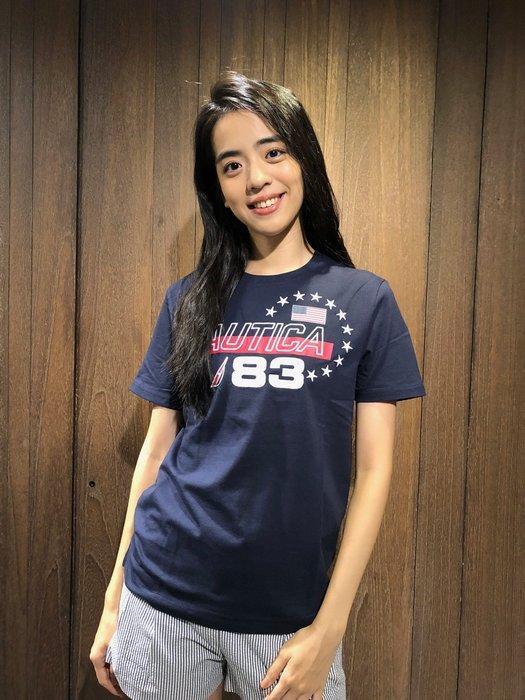 美國百分百【全新真品】 Nautica T恤 帆船牌 T-SHIRT 上衣 短袖 美國 83 LOGO AC89