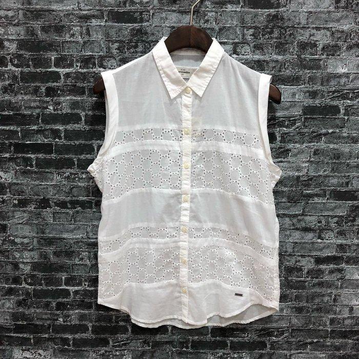 Maple麋鹿小舖 abercrombie&fitch * a&f 女童款無袖襯衫 * ( 現貨XL號 )