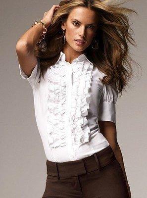 ☆°╮VS流行館╭°☆維多利亞的秘密Victorias Secret◎法式風情襯衫上衣(現貨在台)