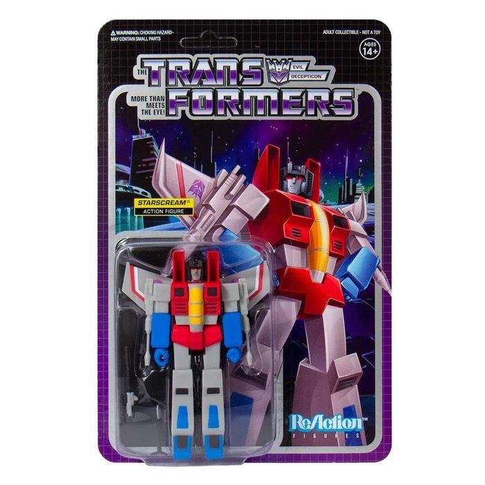 [Paradise]ReAction Transformers Starscream 變形金剛 3.75吋復古人偶天王星