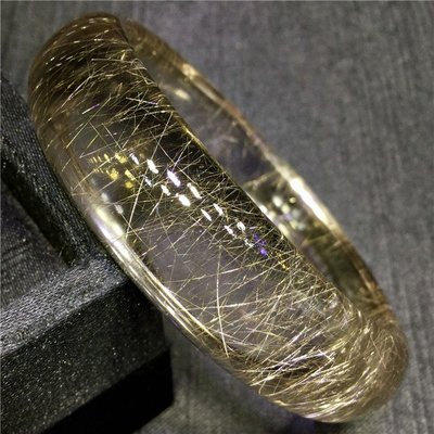 【水晶宮】天然白發晶銀發晶金發晶順發晶手鐲【內徑:58mm】