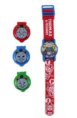 【卡漫迷】 湯瑪士 兒童錶 ㊣版 Thomas 中性錶 蒸汽小火車頭 手錶 掀蓋式 卡通錶 電子錶 可換殼 共三款不同圖案