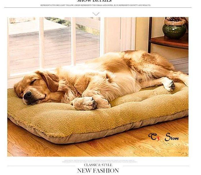 【T3】小款羊羔絨麂皮絨🐶 狗床 可拆洗 中大型犬專用 睡墊 雙面可用 貓床 /寵物窩/貓窩/狗窩/貓【HH16】