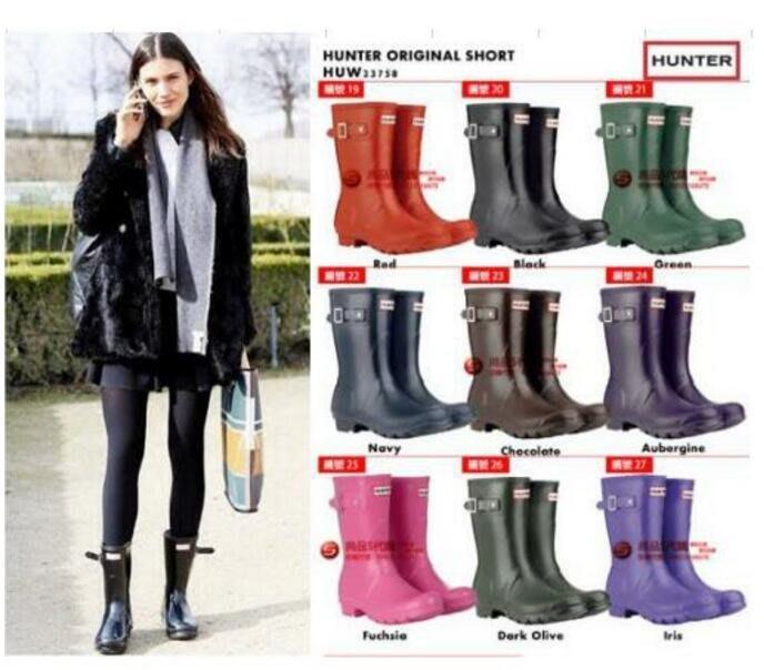 海外代購 亨特 hunter 雨靴 男士套鞋 高筒雨鞋 防水防滑 雨鞋 男靴 女雨靴 雪地靴 休閒靴 短靴 中筒靴